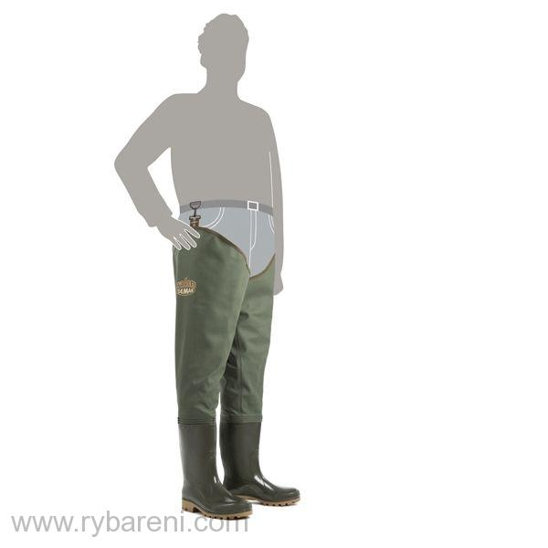 DEMAR - Broďáky GRAND WADERS 3190 zelené